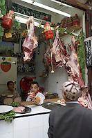 Afrique/Afrique du Nord/Maroc/Fèz: Dans la médina de Fèz-El-Bali chez le boucher