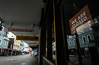 Cuba St at 8.45am during Level 4 lockdown for the COVID-19 pandemic in Wellington, New Zealand on Monday, 23 August 2021.