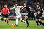 Carlos Henrique Casemiro (l) of Real Madrid battles for the ball with Raul Albentosa Redal of RC Deportivo La Coruna during the La Liga match between Real Madrid and RC Deportivo La Coruna at the Santiago Bernabeu Stadium on 10 December 2016 in Madrid, Spain. Photo by Diego Gonzalez Souto / Power Sport Images