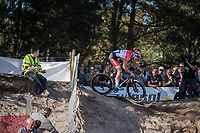 Mathieu van der Poel (NED/Beobank-Corendon) in the infamous Zonhoven 'Kuil' (or 'Pit')<br /> <br /> Elite Men's Race<br /> CX Super Prestige Zonhoven 2017