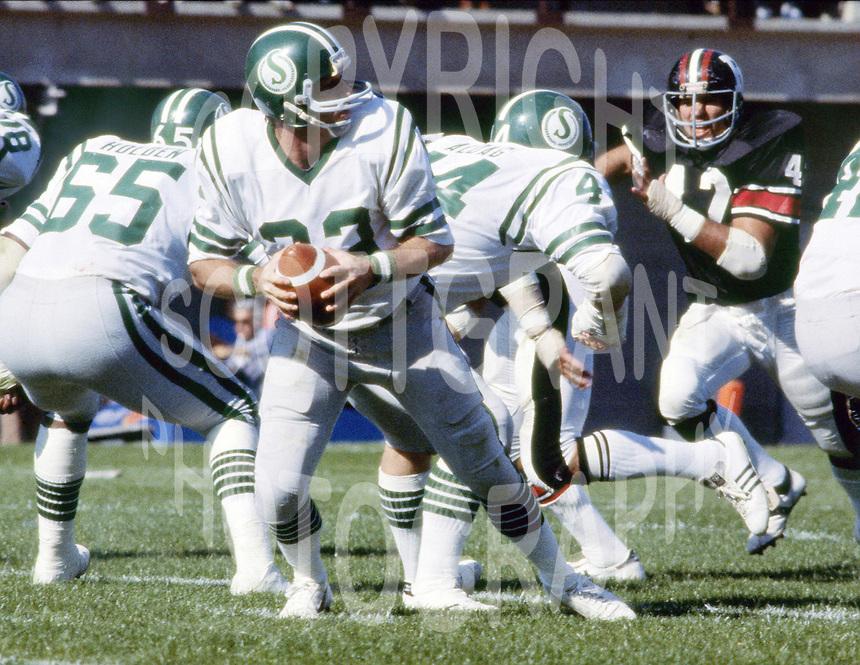 Ron Lancaster Saskatchewan Roughriders quarterback. Copyright photograph Scott Grant