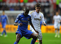 Saturday, 03 November 2012<br /> Pictured: Pablo Hernandez of Swansea (R) against Ramires of Chelsea (L)<br /> Re: Barclays Premier League, Swansea City FC v Chelsea at the Liberty Stadium, south Wales.