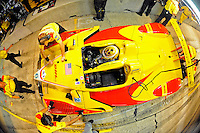 12-15 March 2008, Sebring, Florida, USA.Patrick Long in the cockpit of the Penske run DHL Porsche RS Spyder during night practice for the Sebring 12 Hours..©F.Peirce Williams 2008, USA .