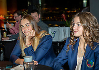 The Hague, The Netherlands, Februari 5, 2020,    Penthouse, FedCup  Netherlands -  Balarus, Official Dinner, Balarus table<br /> Photo: Tennisimages/Henk Koster
