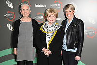 """Ann Cleeves, Brenda Blethyn and Steph McGovern<br /> at the """"Vera"""" photocall as part of the BFI & Radio Times Television Festival 2019 at BFI Southbank, London<br /> <br /> ©Ash Knotek  D3494  13/04/2019"""