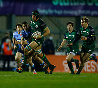 20th February 2021; Galway Sportsgrounds, Galway, Connacht, Ireland; Guinness Pro 14 Rugby, Connacht versus Cardiff Blues; Ultan Dillane drives forward for Connacht with John Porch in support