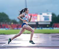 23rd May 2021; Gateshead International Stadium, Gateshead, Tyne and Wear, England; Muller Diamond League Grand Prix Athletics, Gateshead; Laura Muir on her way to winning the women's 1500 metres final