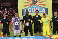 BOGOTA -COLOMBIA, 9-07-2017. John Hinesroza central referee during match Independiente Santa Fe  against  of   Atletico Nacional  for the date 1 of the Aguila League II 2017 played at Nemesio Camacho El Campin stadium . Photo:VizzorImage / Felipe Caicedo  / Staff