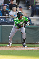 Eugene Emeralds outfielder Kevonte Mitchell (15) at bat during a game against the Everett Aquasox at Everett Memorial Stadium in Everett, Washington.  Eugene defeated Everett 7-5. (Ronnie Allen/Four Seam Images)