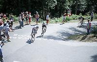 Matteo Busato (ITA/Southeast) & Sam Bewley (NZL/Orica-GreenEDGE) up the Monte Ologno (1168m)<br /> <br /> Giro d'Italia 2015<br /> stage 18: Melide (SUI) - Verbania (170km)