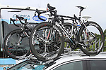 Team car loaded with Specialized bikes at the Omega Pharma-Quick Step Team press conference in the Country Hall, Liege, Belgium before the 2012 Tour de France, Liege, Belgium. 28th June 2012.<br /> (Photo by Eoin Clarke/NEWSFILE)