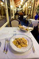 Interno del ristorante Al Paradiso, a Venezia.<br /> Pappardelle ai frutti di mare at the restaurant Il Paradiso, in Venice.<br /> UPDATE IMAGES PRESS/Riccardo De Luca