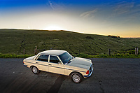 2020 05 29 Mercedes Benz W123 car, Cnewr, Wales, UK
