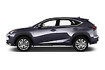 Car Driver side profile view of a 2015 Lexus NX 300h F Sport 4WD 5 Door SUV 4WD Side View