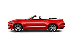 Car Driver side profile view of a 2016 Ford Mustang GT 2 Door Convertible Side View