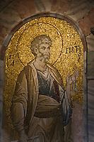 Europe/Turquie/Istanbul :  St Pierre  Mosaïque indonartex, Mosaique  , Musée Kariye, Ancienne  église Saint-Sauveur