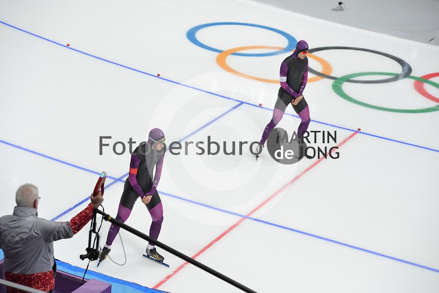OLYMPIC GAMES: PYEONGCHANG: 19-02-2018, Gangneung Oval, Long Track, Test pair, ©photo Martin de Jong