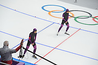 OLYMPIC GAMES: PYEONGCHANG: 19-02-2018, Gangneung Oval, Long Track, Test pair, ©photo Martin de Jong