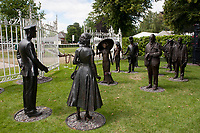 Statues of Her Majesty the Queen and Prince Prince meeting racegoers during The Coronation Stakes Day of Royal Ascot 2017 at Royal Ascot Racecourse on Friday 23rd June 2017 (Photo by Rob Munro/Stewart Communications)