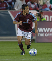 Colorado Rapids midfielder Pablo Mastroeni. Real Salt Lake earned a tied versus the Colorado Rapids securing a place in the postseason. Dick's Sporting Goods Park, Denver, Colorado, October, 25, 2008. Photo by Trent Davol/isiphotos.com
