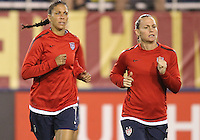 BOCA RATON, FL - DECEMBER 15, 2012: Shannon Boxx (7) and Christie Rampone (3) of the USA WNT during an international friendly match against China at FAU Stadium, in Boca Raton, Florida, on Saturday, December 15, 2012. USA won 4-1.