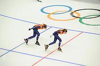 OLYMPIC GAMES: PYEONGCHANG: 09-02-2018, Gangneung Oval, Training session, Annouk van der Weijden (NED), Esmee Visser (NED), ©photo Martin de Jong