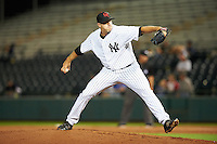 Scottsdale Scorpions pitcher Brody Koerner (55), of the New York Yankees organization, during a game against the Mesa Solar Sox on October 17, 2016 at Scottsdale Stadium in Scottsdale, Arizona.  Mesa defeated Scottsdale 12-2.  (Mike Janes/Four Seam Images)