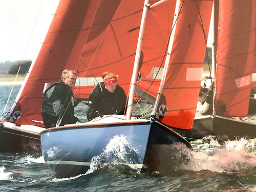 Former Irish sailing President Jack Roy – seen here racing the family Squib – is one of many volunteers who have contributed to DBSC's success over the years.