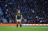 Pat Lambie of South Africa prepares to take a penalty kick during the QBE International match between England and South Africa at Twickenham Stadium on Saturday 15th November 2014 (Photo by Rob Munro)