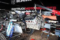 Mar. 18, 2011; Chandler, AZ, USA;  Detailed view of the Dodge Ram hemi engine in the pit area of LOORRS pro 2 unlimited driver John Gaston at Firebird International Raceway. Mandatory Credit: Mark J. Rebilas-