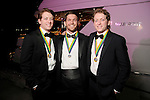 """From left: Lane Ware, Ben Probert and Carter Ware at the San Luis Salute """"Space Pirates"""" VIP reception Friday February 24,2017. (Dave Rossman Photo)"""