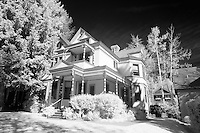 Victorian house in infrared, Aspen