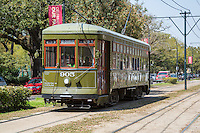 New Orleans, Louisiana.  St. Charles Streetcar, Uptown District.