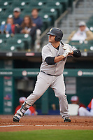 Scranton/Wilkes-Barre RailRiders Mike Ford (36) at bat during an International League game against the Buffalo Bisons on June 5, 2019 at Sahlen Field in Buffalo, New York.  Scranton defeated Buffalo 3-0, the first game of a doubleheader.  (Mike Janes/Four Seam Images)