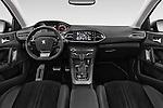 Stock photo of straight dashboard view of 2015 Peugeot 308 Feline 5 Door Hatchback Dashboard