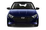 Car photography straight front view of a 2021 Hyundai I20 Sky 5 Door Hatchback Front View