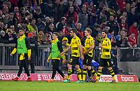 31.03.2018, Football 1. Bundesliga 2017/2018, 28.  match day, FC Bayern Muenchen - Borussia Dortmund, in Allianz-Arena Muenchen. Die Dortmunder Spieler schleichen dejected  vom Platz. Nuri Sahin (Dortmund), Lars Stindl (Germany),  *** Local Caption *** © pixathlon<br /> <br /> Contact: +49-40-22 63 02 60 , info@pixathlon.de