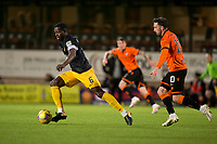 2nd October 2020; Tannadice Park, Dundee, Scotland; Scottish Premiership Football, Dundee United versus Livingston; Marvin Bartley of Livingston races away from Nicky Clark of Dundee United