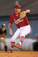 Relief pitcher Aaron Terry #9 of the Johnson City Cardinals in action versus the Bluefield Orioles at Howard Johnson Field August 1, 2009 in Johnson City, Tennessee. (Photo by Brian Westerholt / Four Seam Images)