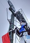Challenge Mer et Montagne 2012, Saint Gervais les Bains, Mont Blanc, Haute Savoie, France..Ski Super Geant..Francois Gabart.