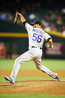 Colorado Rockies pitcher Guillermo Moscoso #56 during a National League regular season game against the Arizona Diamondbacks at Chase Field on October 3, 2012 in Phoenix, Arizona. Arizona defeated Colorado 5-3. (Mike Janes/Four Seam Images)