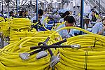 Indústria de cabos de computadores. Rio de Janeiro. 2008. Foto de Ricardo Azoury.