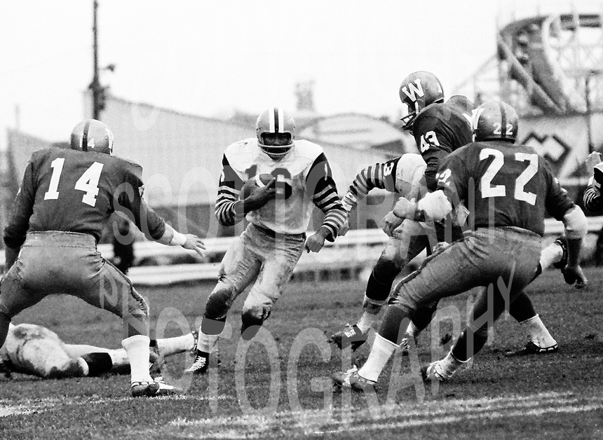 Willie Bethea HamiltonTiger Cats 1965 Grey Cup. Copyright photograph Ted Grant
