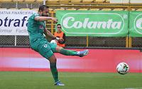BOGOTÁ - COLOMBIA, 23-02-2020:Matias Mier de La Equidad convierte  un  gol de su equipo partido entre La Equidad y Cúcuta Deportivo por la fecha 6 de la Liga BetPlay I 2020 jugado en el estadio Metropolitano de Techo de la ciudad de Bogotá. / Matias Mier of La Equidad scores the goal of his team during match between La Equidad and Cucuta Deportivo for the date 6 as part of BetPlay League I 2020 played at Metroplitano de Techo stadium in Bogota. Photo: VizzorImage / Felipe Caicedo / Staff