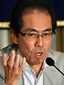 Shigeaki Koga attends press conference at Foreign Correspondents' Club in Tokyo