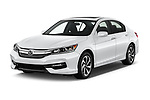 2017 Honda Accord EX-L 4 Door Sedan Angular Front stock photos of front three quarter view