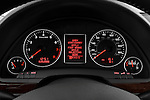 Instrument panel close up detail view of a 2005 - 2008 Audi A4 3.2 Sedan.