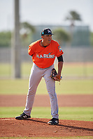 Miami Marlins pitcher Ethan Clark (67) during a Minor League Spring Training Intrasquad game on March 27, 2018 at the Roger Dean Stadium Complex in Jupiter, Florida.  (Mike Janes/Four Seam Images)