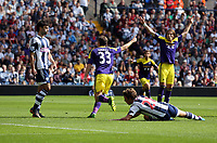 Sunday 01 September 2013<br /> Pictured:  Ben Davies of Swansea opening goal.<br /> Re: Barclay's Premier League, West Bromwich Albion v Swansea City FC at The Hawthorns, Birmingham, UK.