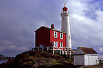 Fisgard Lighthouse,Near Victoria, British Columbia, historic Fort Rodd protected the Strait of Juan de Fuca